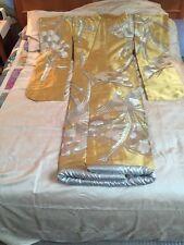 KIMONO CEREMONIAL UCHIKAKE NWOT Gold w/Silver Lining, White PHOENIX Embroidery