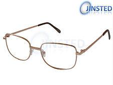 da474d64996d Reading Glasses Specs Spectacles Unisex Gold Frame Long Sighted RG006