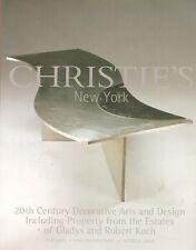Christie's 20th C. Design Deco Arts + Koch Estate Auction Catalog 2004