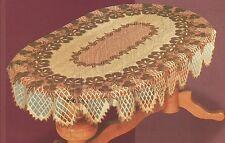 """OVAL MARRONE SCURO / Ruggine Lace tablecloth nuova 130 x180cm (51 """"x71""""), REGALO PERFETTO"""