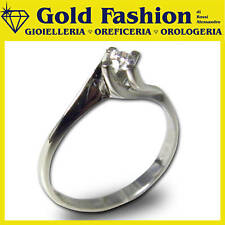 Anello in oro 18 K e diamante - Solitario - 0,10 carati