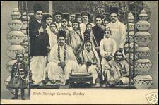 india, BOMBAY, Hindu Marriage Ceremony (ca. 1905)