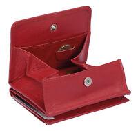 Wiener Schachtel Geldbörse Kleingeldfach Ausweisformat LEAS in Echt-Leder, rot