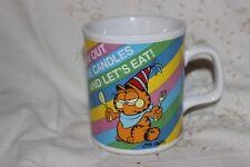 Cup Mug Tasse à café Garfield Blow Out The Candles Lets Eat