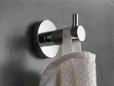 Bathroom Accessories SUS Wall Mount Hook Hanger Bath Clothes Towel Holder Chrome