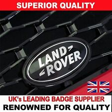 Range Rover Sport Black & Silver Front Grille Badge Land Rover Black Custom