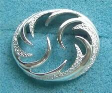 "Sarah Coventry ""CAROUSEL"" Pin - Silver Tone Circle - Sara Cov Jewelry - Vtg"