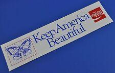 COCA COLA COKE AUTOCOLLANT USA de 1980 decal - Keep America Beautiful