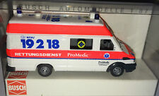 """Busch 47907-IVECO DAILY """"RD promedic Karlsruhe"""", h0, 1:87 NUOVO + OVP"""