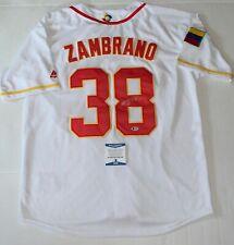 Carlos Zambrano Chicago Cubs signed Venezuela jersey autographed BAS Beckett