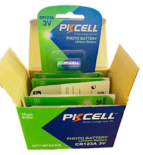 PKCELL CR123a 3v Box of 8 carded units