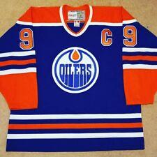Size Adult XL CCM Vintage Wayne Gretzky Edmonton Oilers Blue NHL Hockey Jersey