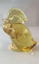 "Heisey by Dalzell-Viking Glass Sunshine Yellow Sitting Duckling  2.25"" Tall HCA"