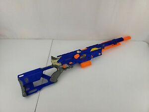 Nerf N-Strike Blue Long Strike CS-6 Sniper Rifle w Extended Barrel, Clip & Darts