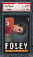 1985 Topps #239 STEVE FOLEY PSA 10 (FB03)