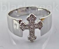 Sterling Silver Christian Cross Ring ~ Choose Size