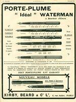 Publicité ancienne porte plume Waterman 1908 issue de magazine