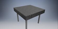 Table de soudure établie de soudage fixation  fichier dxf 1000mm x 1000mm