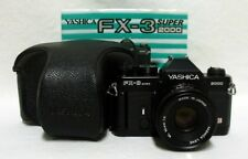 YASHICA FX-3 Super 2000 35mm SLR Film Camera w/2.0 50mm ML Lens w/Case & Manual
