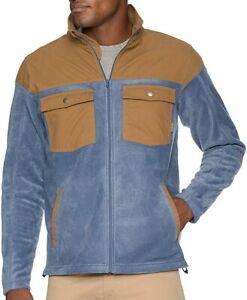 COLUMBIA Men's STEENS MOUNTAIN NOVELTY Fleece Jacket - DMD - Small - NWT