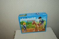 BOITE  PLAYMOBIL COUNTRY CHEVAL ET 2 CAVALIERE ACROBATE NEUF SCELLER 6933