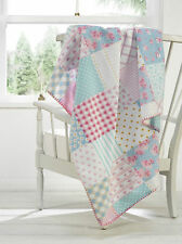 Patchwork Soft Touch Fleece Throwover/Blanket 49in x 59in (125cm x 150cm) Approx
