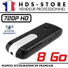CLÉ USB CAMÉRA ESPION USBCAM1-HD + CARTE 8 GO HD 720P DÉTECTION VIDÉO 1280X720