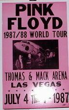 "Pink Floyd Concert Poster - 1987 - Thomas & Mack Arena - Las Vegas - 14""x22"""
