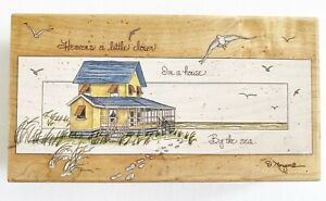 Stamps Happen Heavens a Little Closer in House By the Sea D Morgan Rubber Stamp