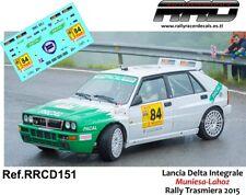DECAL/CALCA 1/43; Lancia Delta Integrale; Muniesa-Lahoz; Rally Trasmiera 2015
