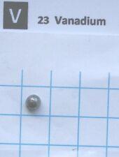 0,4 gram Vanadium metal pellet 99,9% pure element 23 sample