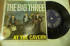 """THE BIG THREE"""" AT THE CAVERN-disco 45 giri EP(4 brani) DECCA UK 1963"""" RISTAMPA"""