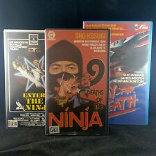 Rare VHS Kung-Fu lot - 9 Deaths of the Ninja - Pray for Death - Enter the Ninja