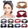 Womens Headband Twist Hairband Bow Knot Cross Tie Cloth Headwrap Hair Bands 2019