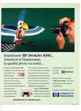 1996 / Imprimante HP DeskJet 850C / Hewlett Packard / publicity / advertising