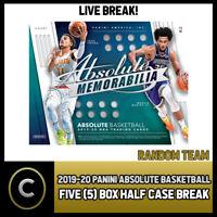2019-20 PANINI ABSOLUTE MEMORABILIA 5 BOX HALF CASE BREAK #B266 - RANDOM TEAMS