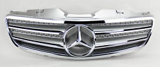 2 Fin Front Silver w/ Chrome Hood Sport Grill for Mercedes SL Class R230 W230