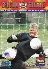 Football Programme>EXETER CITY v BARNET Jan 1998 match postponed