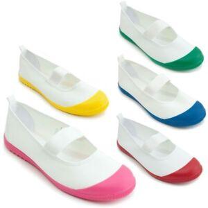 Japanese Women Kids Uwabaki Student Indoor Gym Canvas Shoes Cosplay 5 Colors