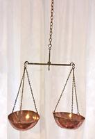 Antique English Copper Brass Iron Weight Scales Birmingham England