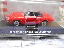 ALFA ROMEO Spider Roadster rot red 1600 Duetto 1966 Cabrio IXO Altaya SP 1:43