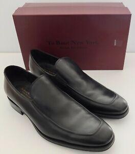 To Boot New York Adam Derrick Men's Dorset Black Leather Dress Loafers Size 12