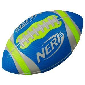 Nerf Sports Pro Grip Football, Green/Blue