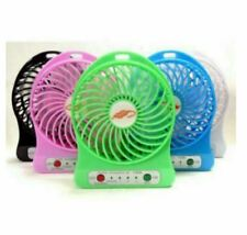Rechargeable Mini Fan With USB Cord And Battery - BLACK