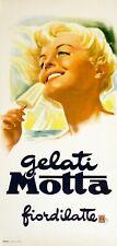 Original Vintage Italian Poster Gelati Motta Fiordilatte by Rossi 1960 Gelato