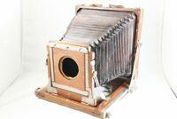 [As-Is] Wood 6 1/2 x 8 1/2 (16.5cm x 21.5cm) Wooden Field Camera Body #2390