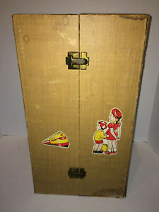 """Vintage 1950s Steamer 18"""" Doll Trunk w/ pull-out Card Board Drawer Sold AS IS"""