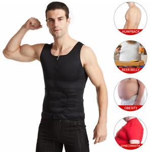 Men Sweat Sports Underwear Body Shaper Vest Belt Slimming Sports Corset Sauna