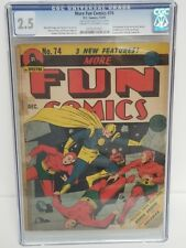 MORE FUN COMICS #74 CGC 2.5 DC 1941 2ND AQUAMAN GREEN ARROW & SPEEDY VERY RARE