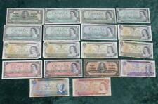 New listing Canada Mixed Note Lot, 1 Dollar, $2, $5 & $10 Notes, 18 Canadian Notes Total